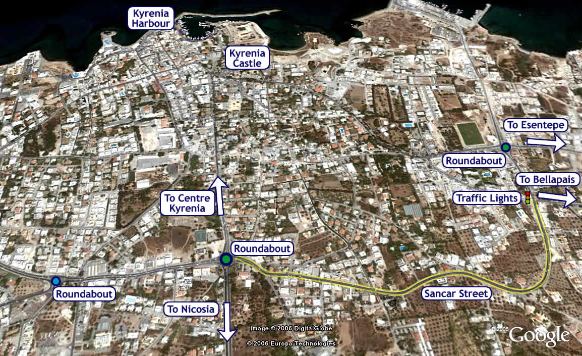 Kyrenia Map City Map West Kyrenia Map East Kyrenia Map and more